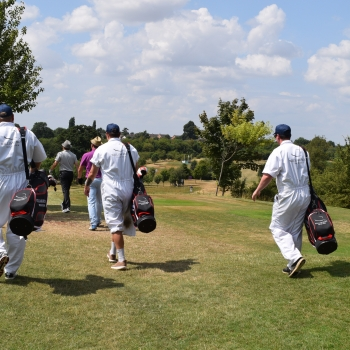 TRILBY TOUR -2018 - GOLFERS IN SUN