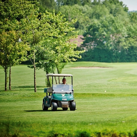 Gaudet Luce Member on Buggy | Gaudet Luce Golf